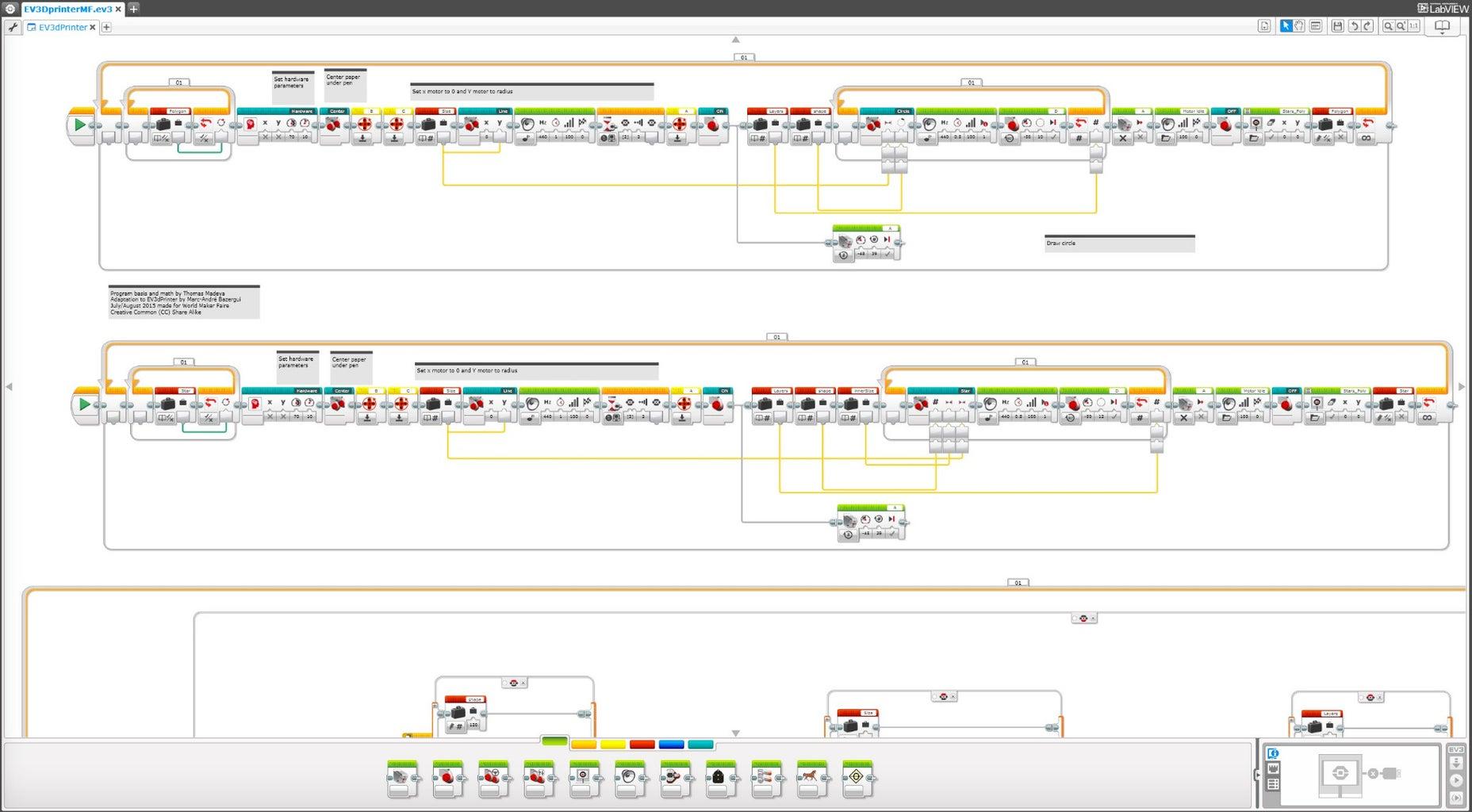 Programming the EV3Dprinter