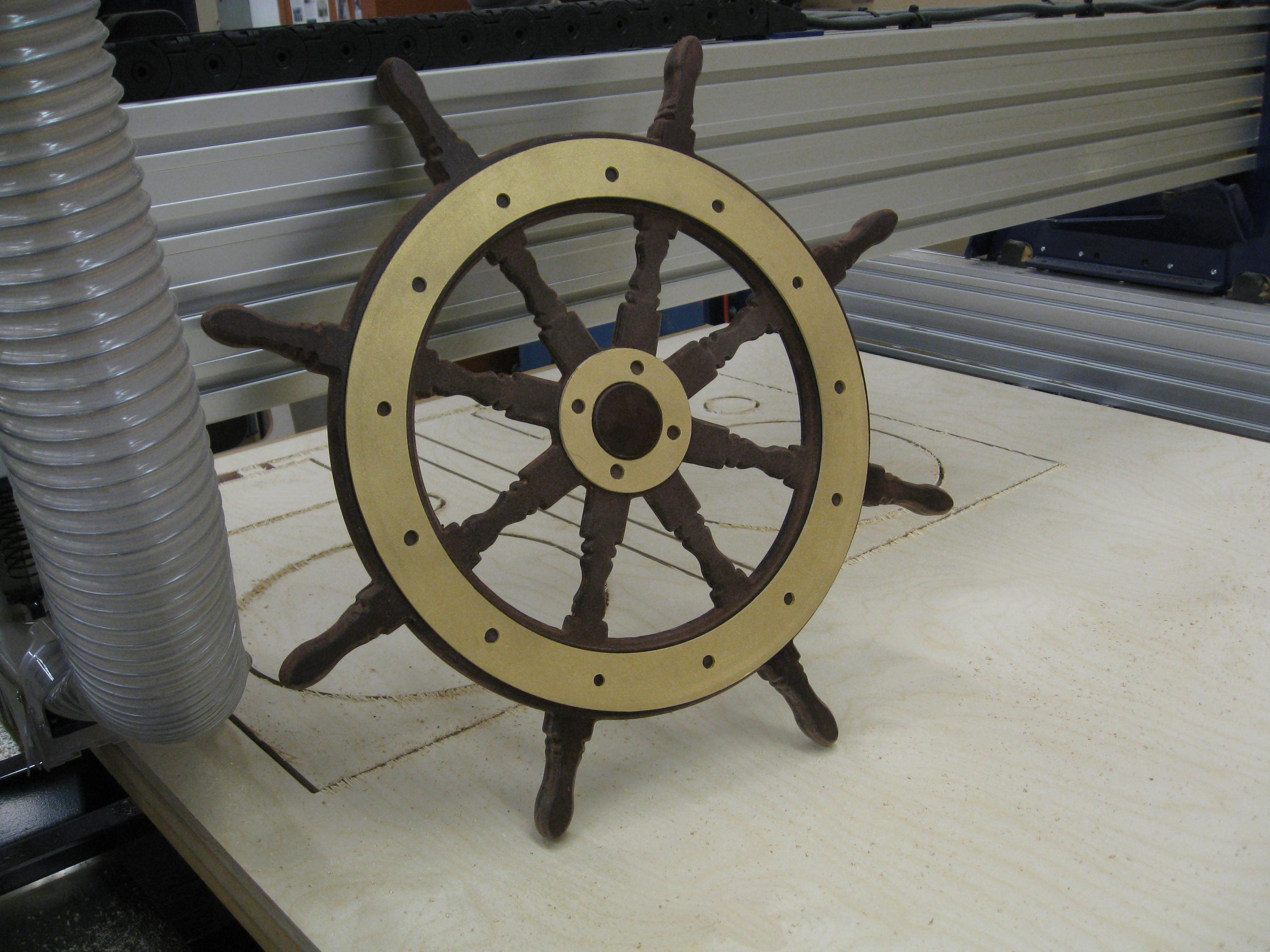 Antique-look Helm Wheel prop
