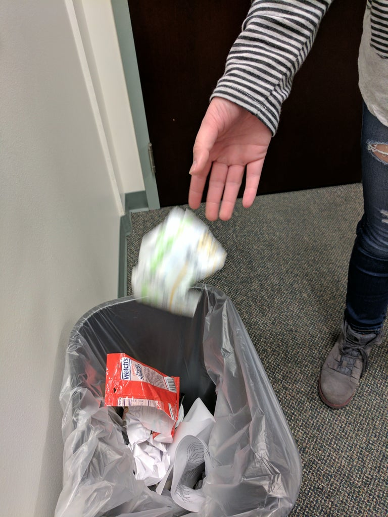 Dispose of Soiled Diaper (containing Used Wipes) in a Trashcan So That the Odor Does Not Linger