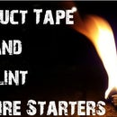 Easy Duct Tape and Lint Fire starters!!!