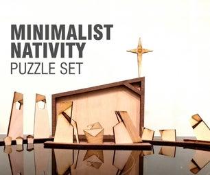 Minimalist Nativity Puzzle Set