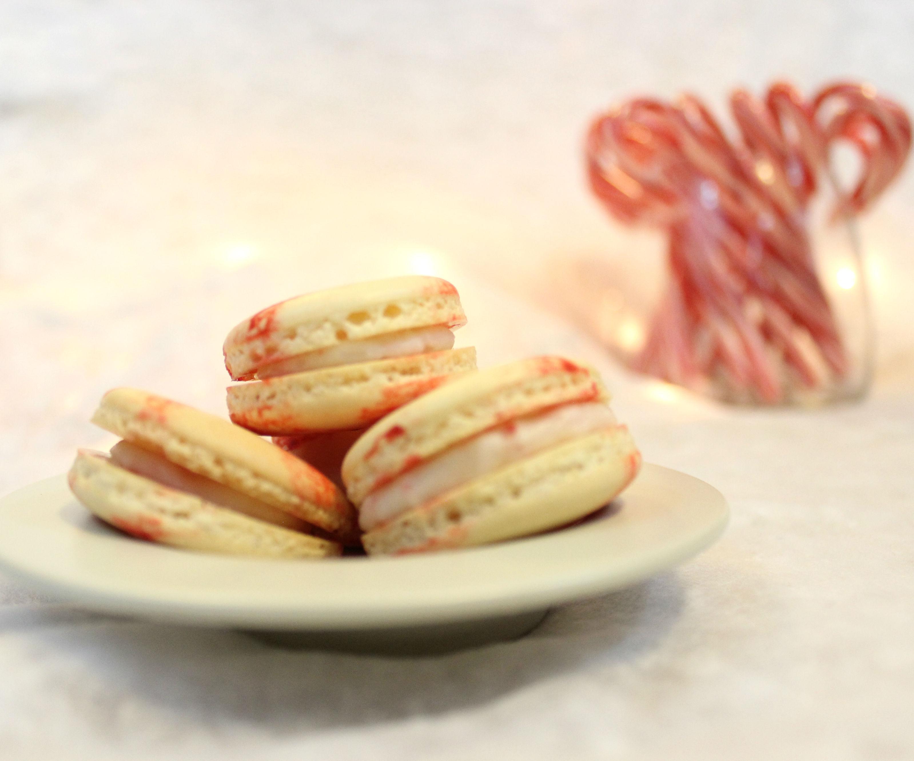 Peppermint Candy Macarons | Josh Pan