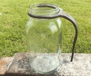 Forged Mason Jar Handle