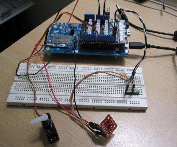 Intel Edison IoT - Control Servo Using Accelerometer