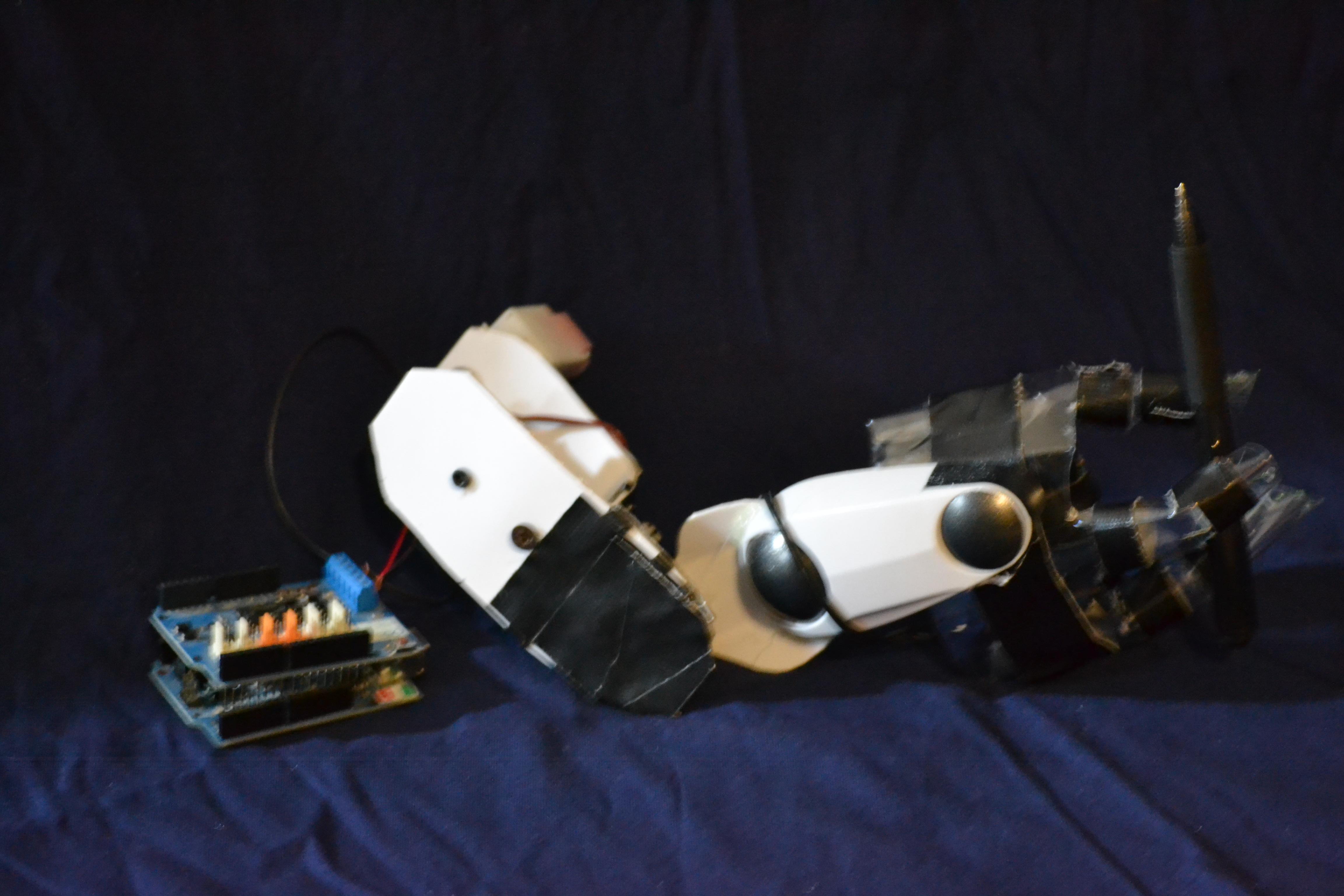 Three Fingered Arduino Robotic Arm