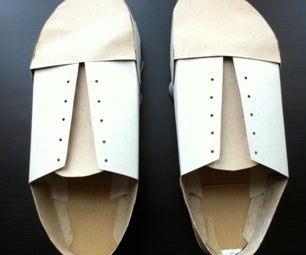 Old Man Shoes Made From Cardboard