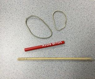 Cylindrical Item (Pen Ink Cartridge, Chopstick) Launcher