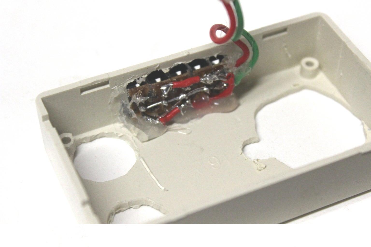 Hot Glue Security Switch
