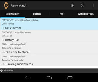 RetroWatch Android App.