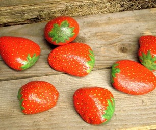 Decoy Strawberry Rocks to Deter Bird Burglars