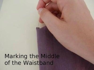 Attach the Waist Band