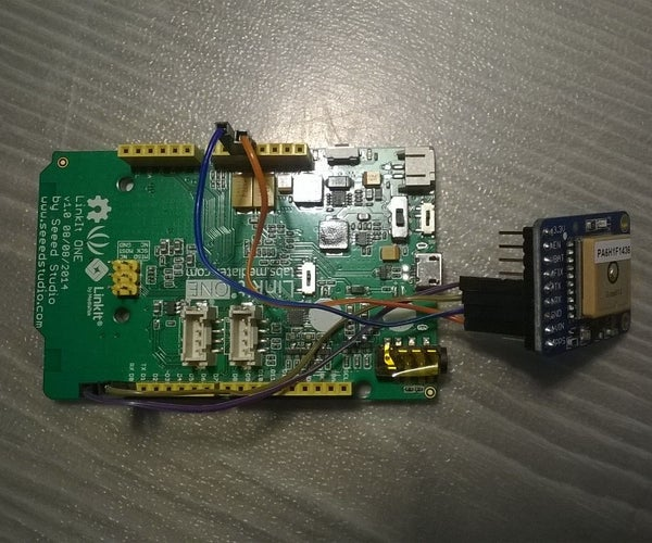 GPS Ultimate Breakout Board From Adafruit and LinkIt ONE Interfacing