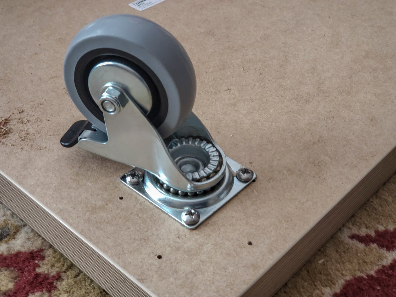 Step 1.  Add Casters to Base