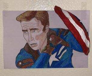 3D Captain America Portrait