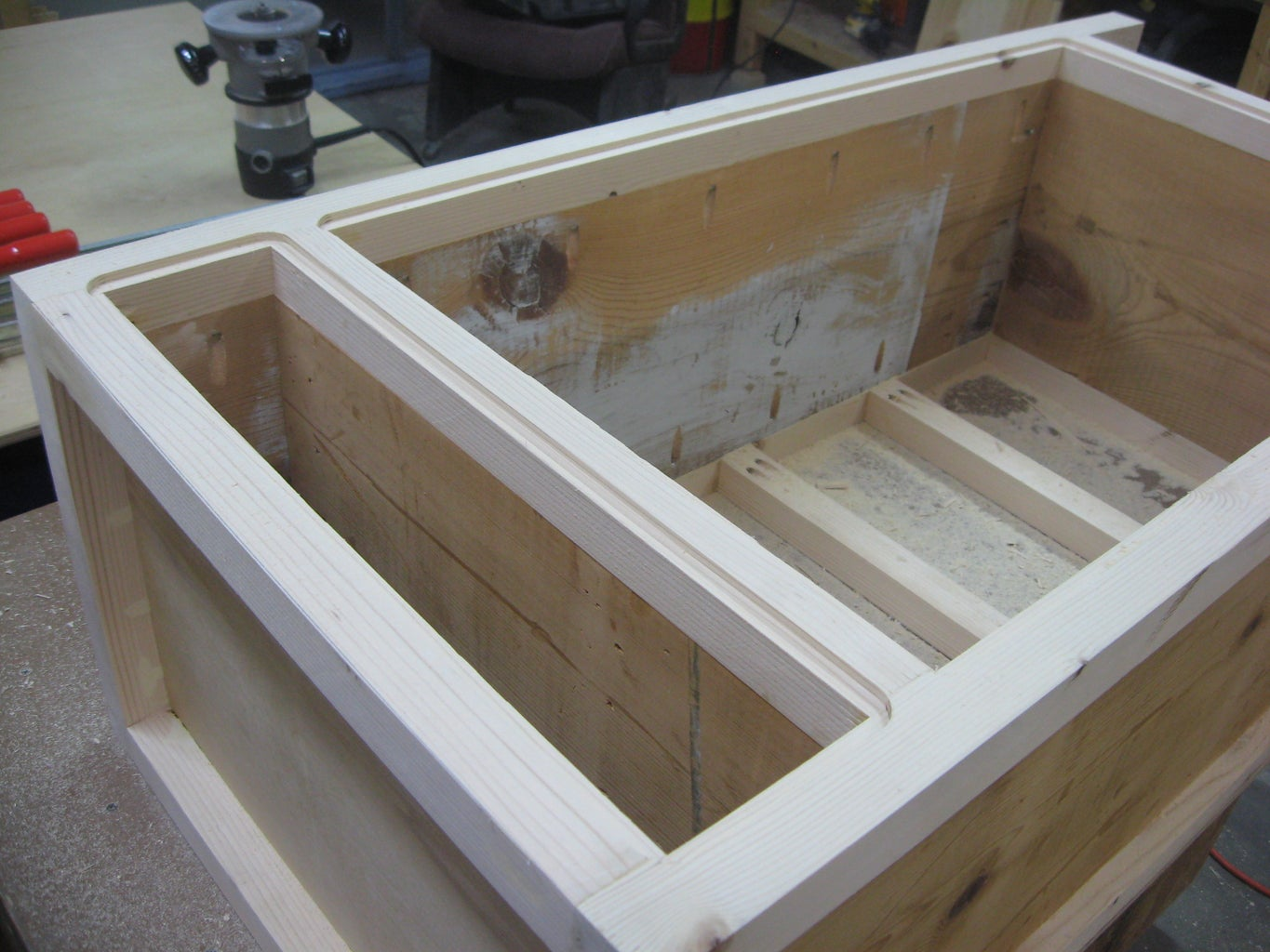 Recessed Areas for Back Panels