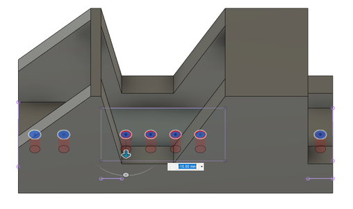 Design Process - Stepper Motor Mount - Mounting Holes