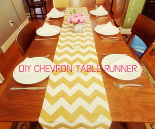 DIY No Sew Chevron Table Runner