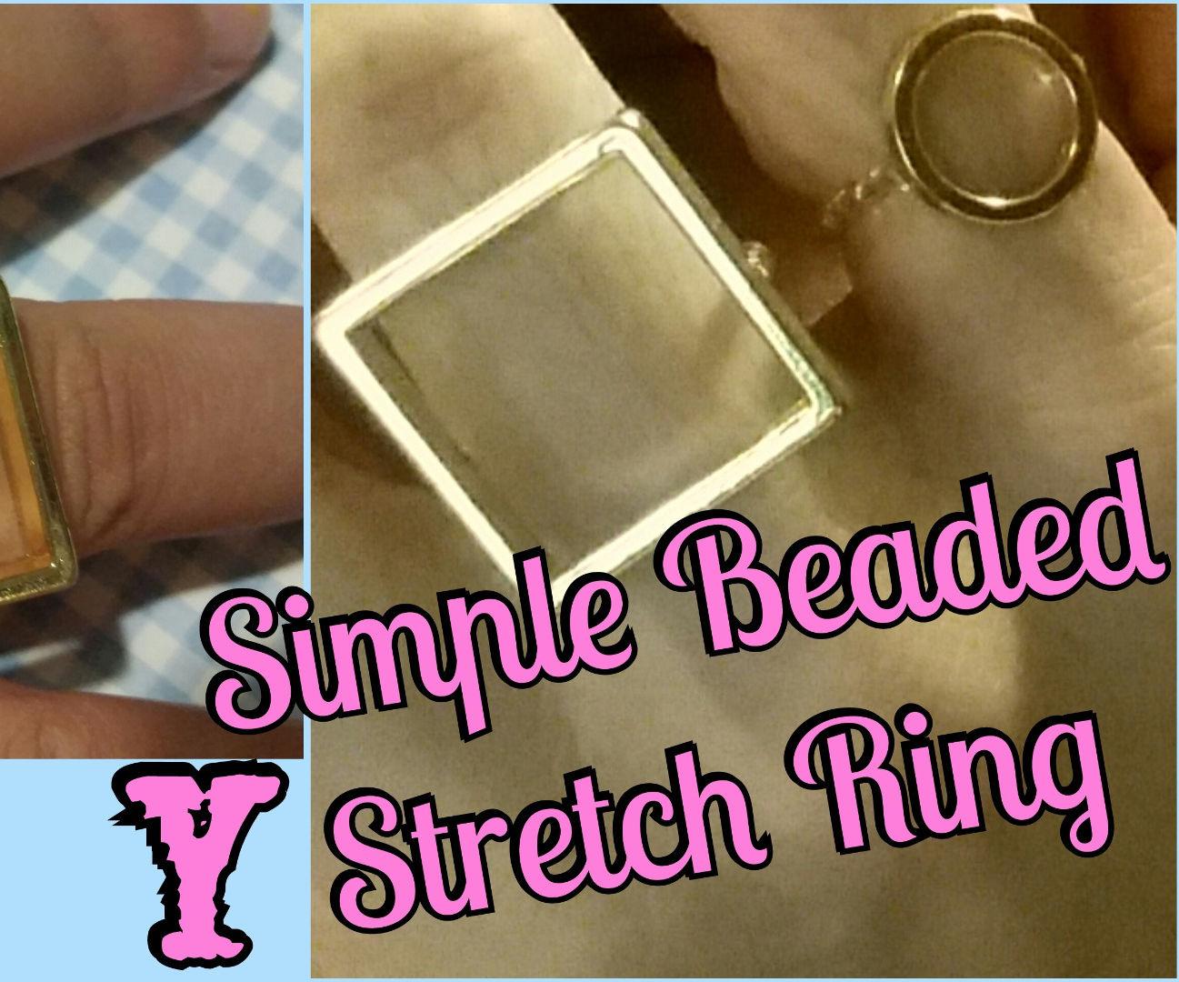 DIY Simple Beaded Stretch Rings