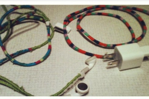 Wrap Your Cords In Embroidery Floss 10 Steps Instructables