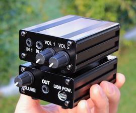 Audio Mixer - Two Devices Into One Headphones