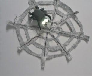 Shining Spider With Spiderweb