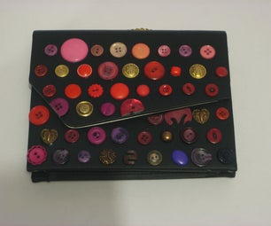 Decorate a Purse With Colourful Buttons