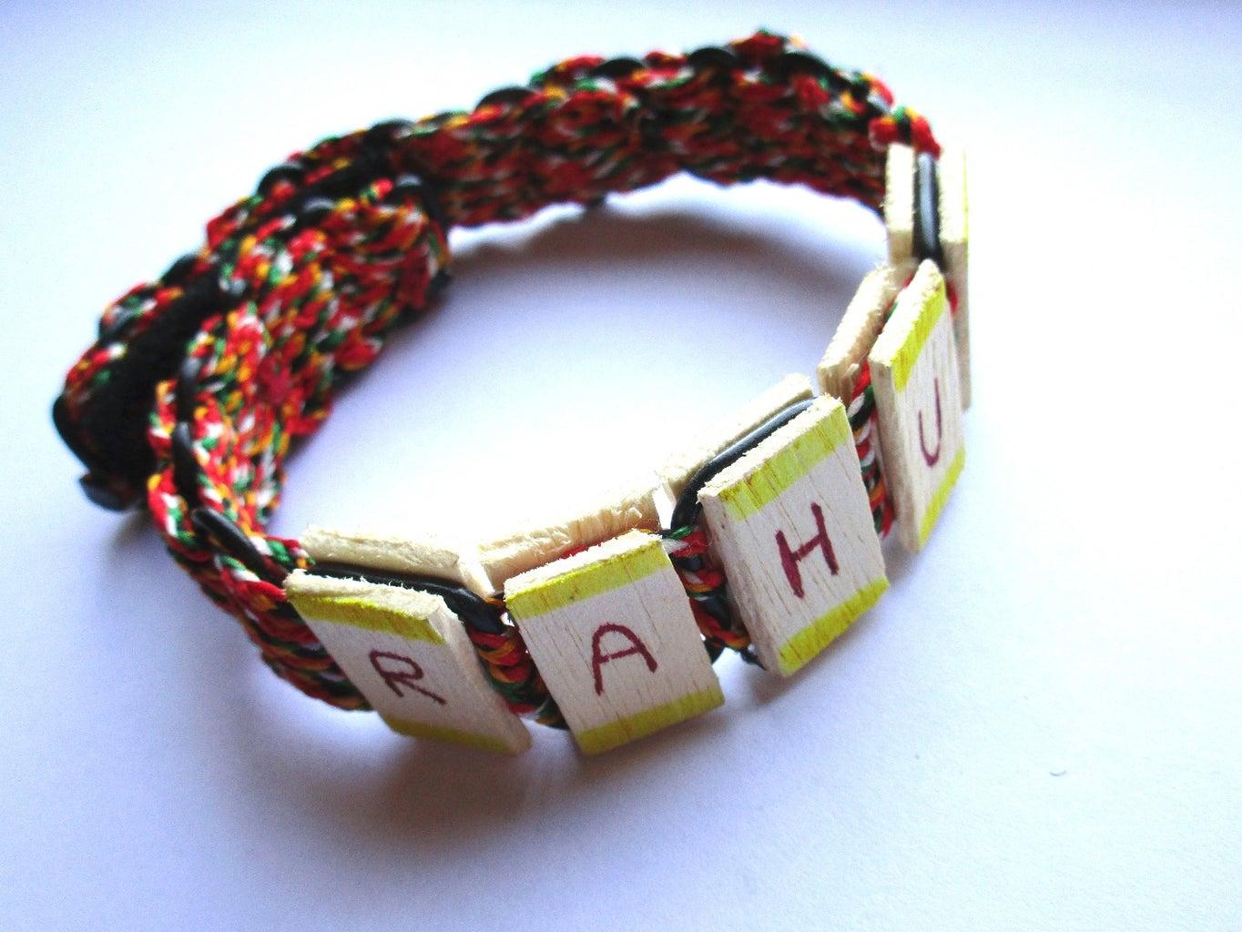 Fancy N Cool Name Bracelet Using Ice Cream Sticks