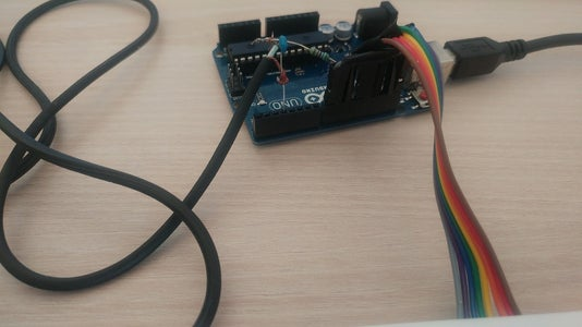 Connect Audio Output Cable and Low-pass Filter to Arduino