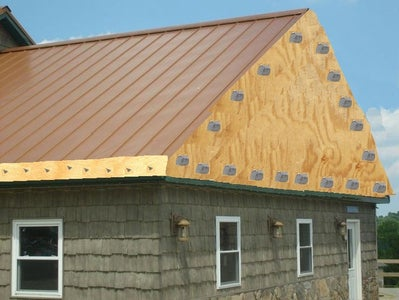 Add an Edge Strip Cover the End of Your Roof