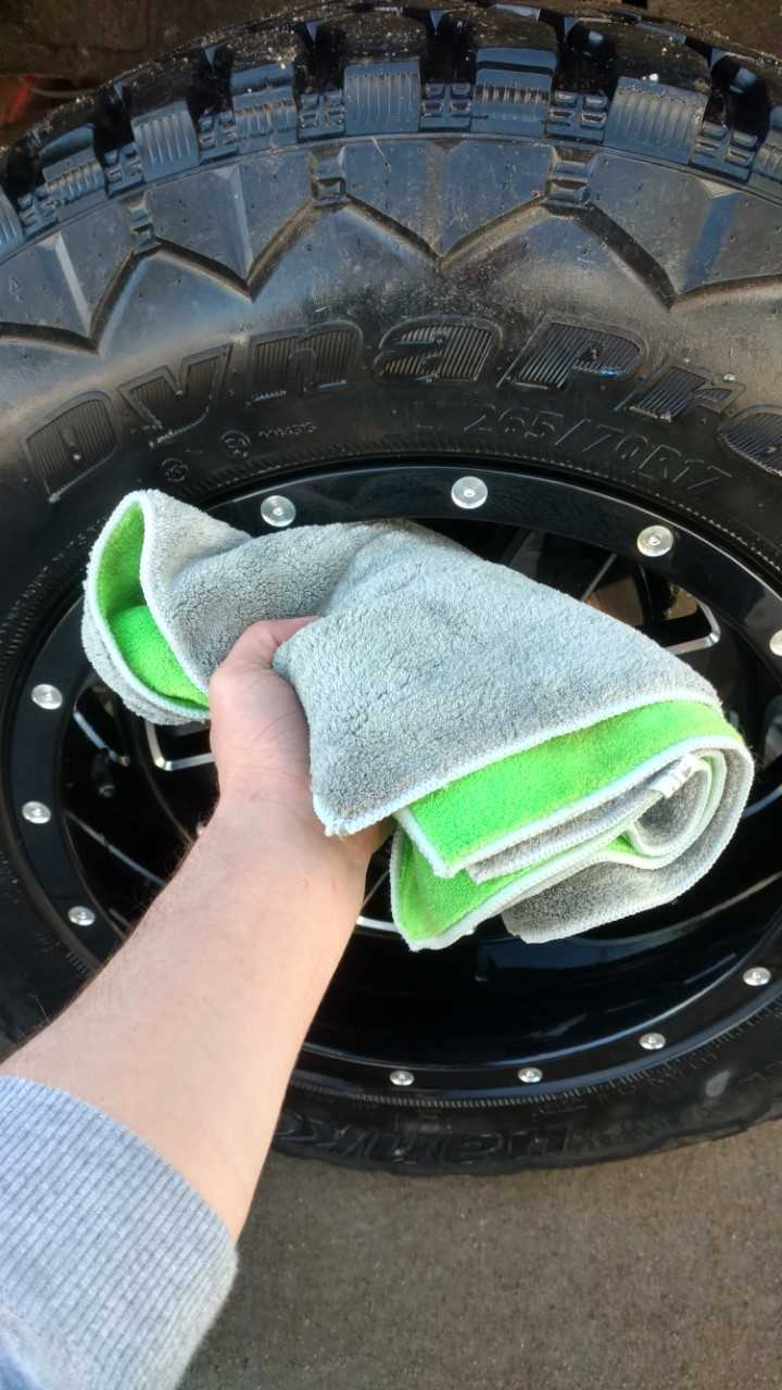 Rinse and Dry Off the Wheel.