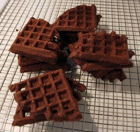 Quick (gluten Free Optional) Chocolate Waffle Cookies