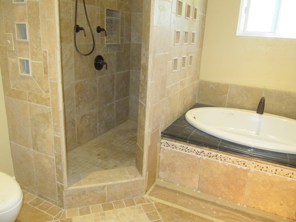 Building a Shower Pan With Vinyl Liner