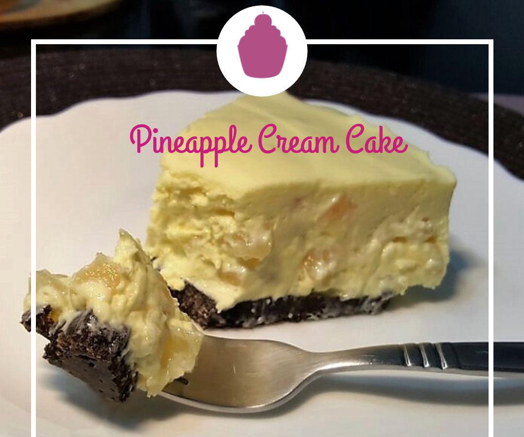 Pineapple Cream Cake (No Bake!)