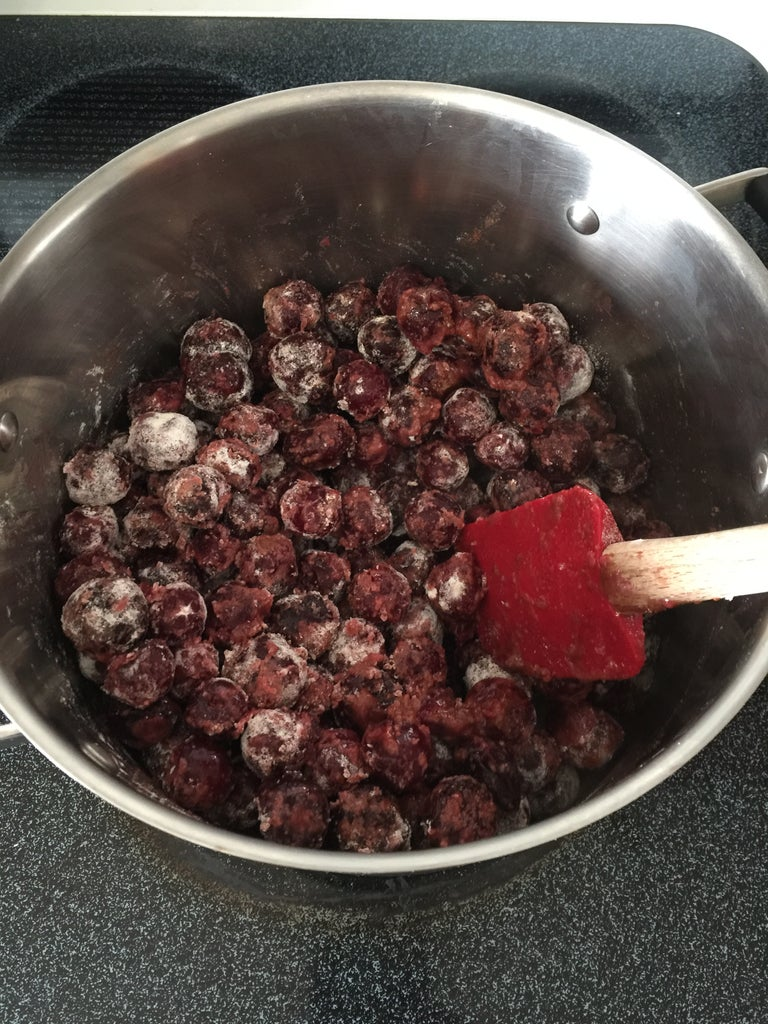 Making the Cherry Filling!