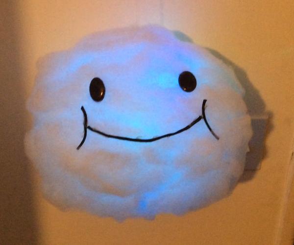 Floating Lakitu Cloud Lamp