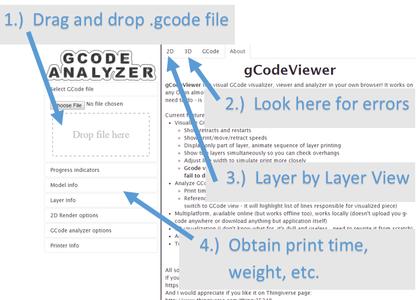 Inspecting the G-code (Uploading)