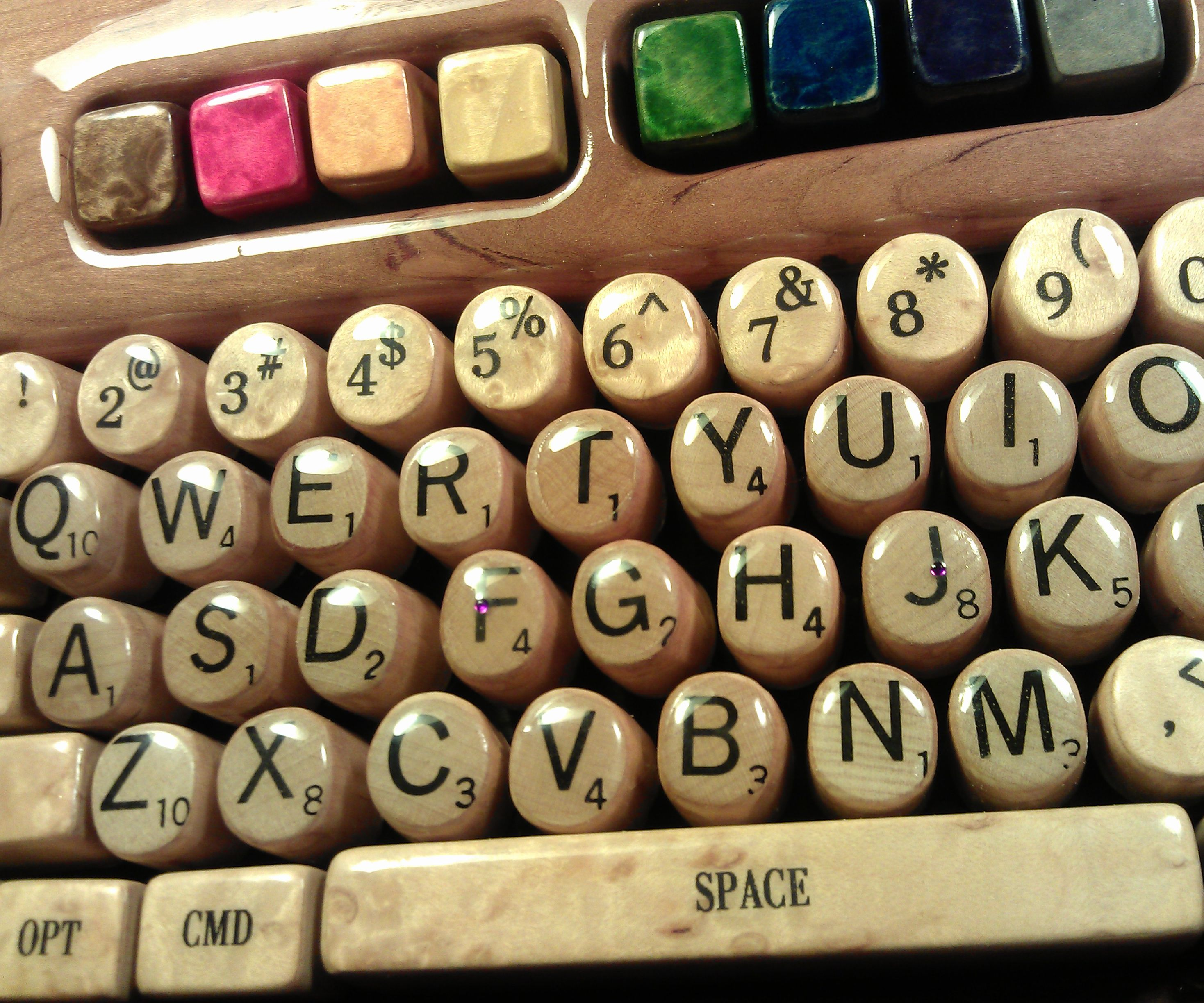 Wooden Computer Keyboard by Steve M. Potter
