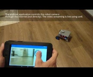 Android Controlled Robot Spy Camera