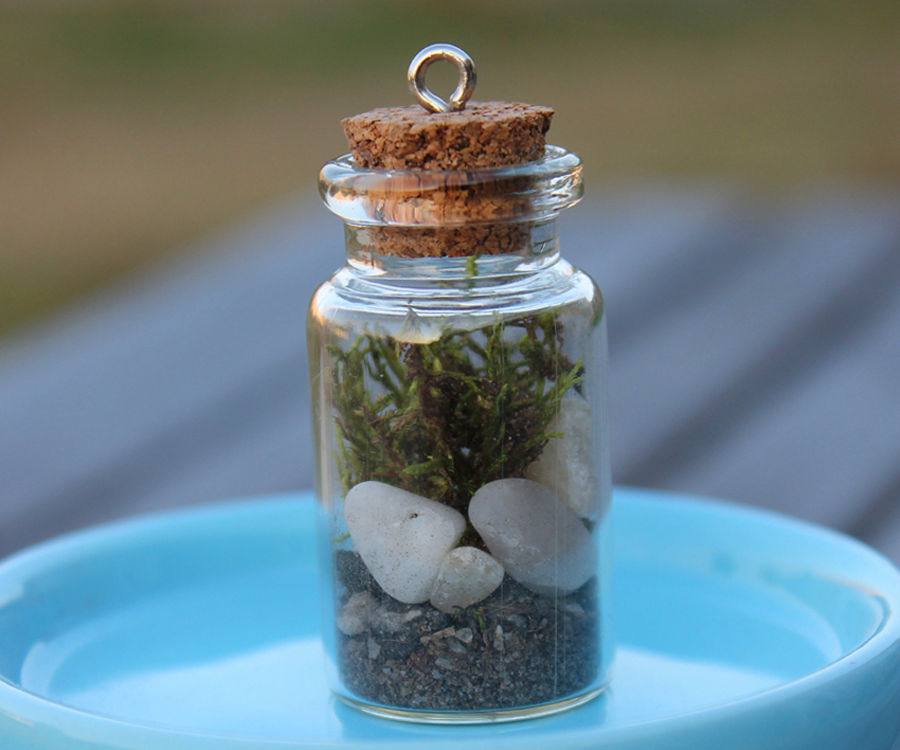 Terrarium in a Bottle Necklace! Fairy Garden Jewelry!