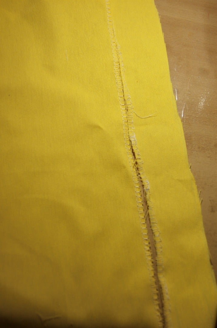 Overlock Two Sides From the Smaller Pieces