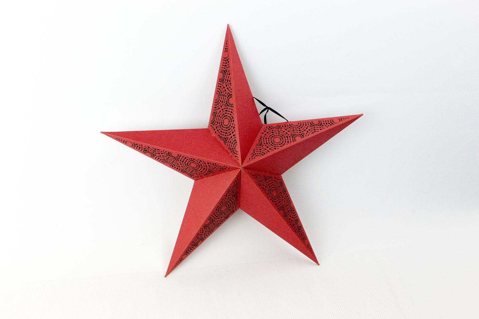 Paper Star Lantern With an Emblaser