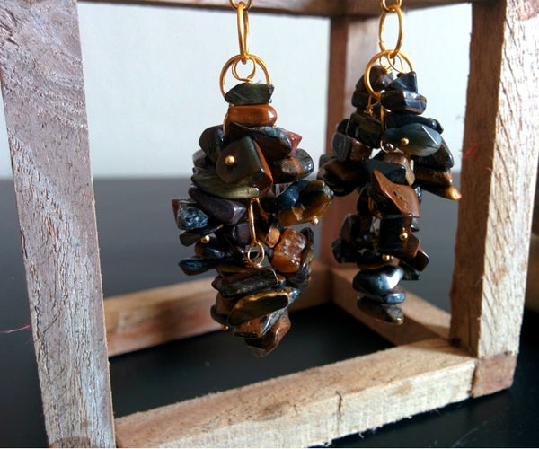 How to Create Stone Chips Cluster Earrings