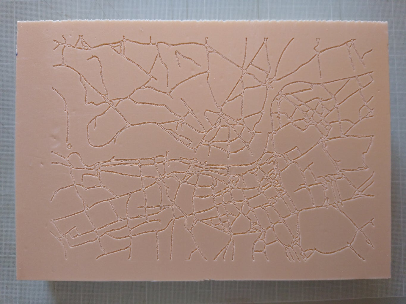 Engrave Streets and River on Extruded Polystyrene Panel