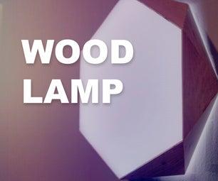 Wood Polygon Wall Light