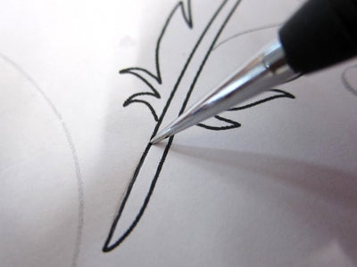 Get the Carving Pattern Transferred to Leather and Cut the Lines