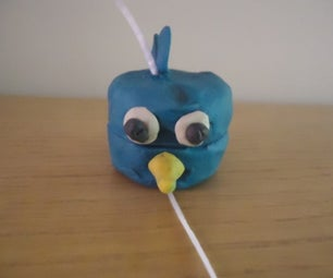 Exploding Blue Angry Bird From Clay