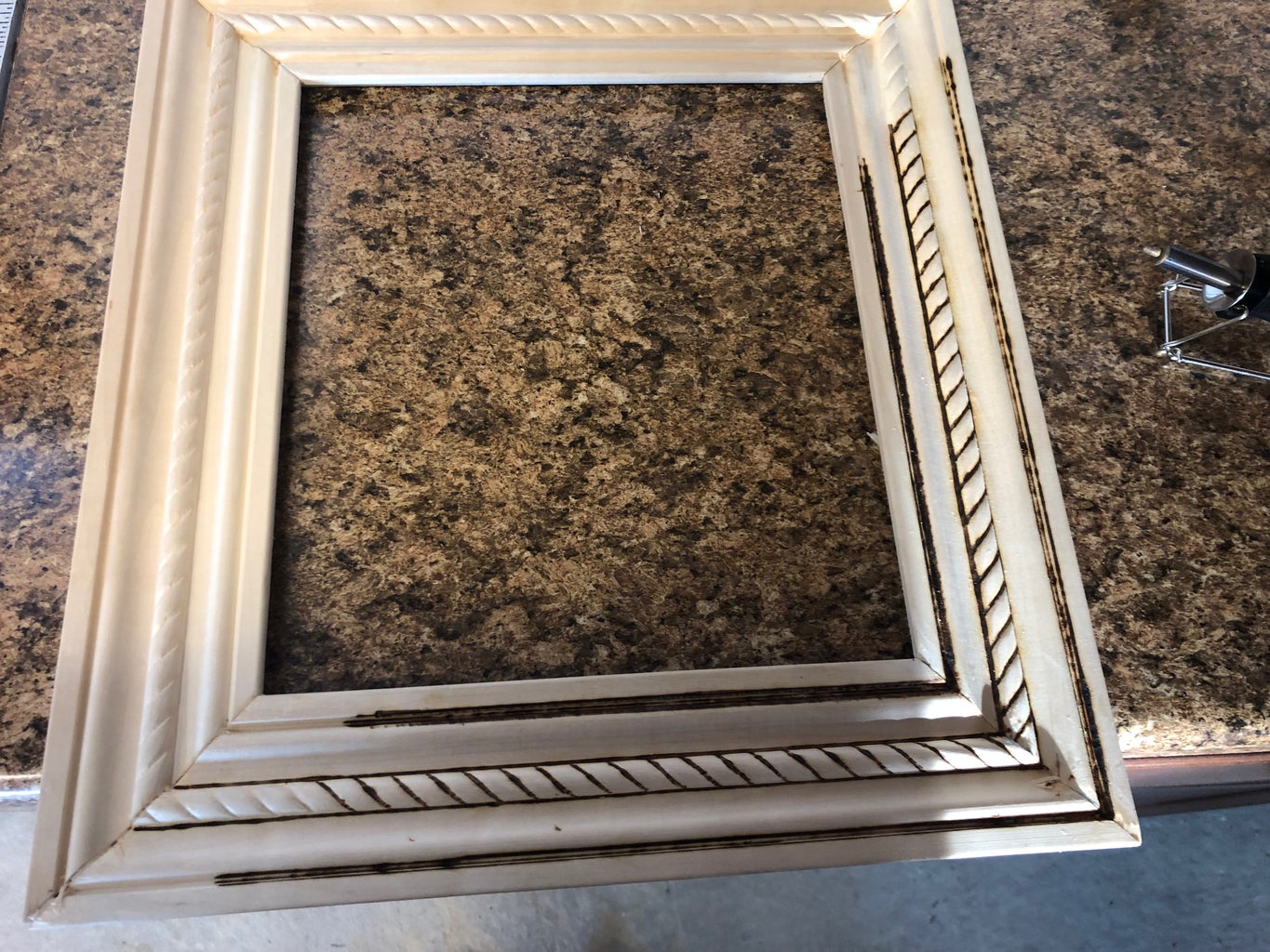 Wood Burning the Picture Frame
