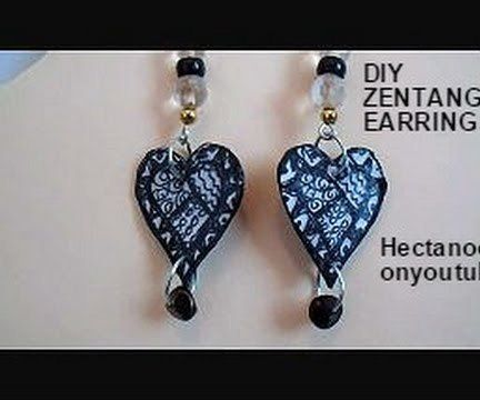 Zentangle Paper Earrings
