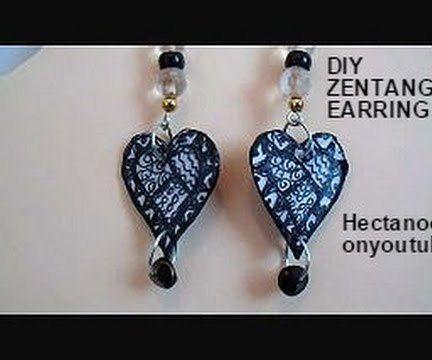 Zentangle Paper Earrings