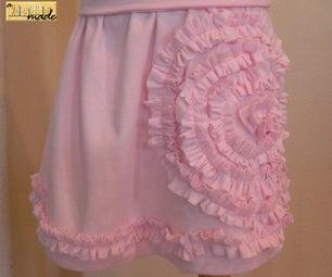 Tee Shirt Upcycle: Ruffled Flower Skirt